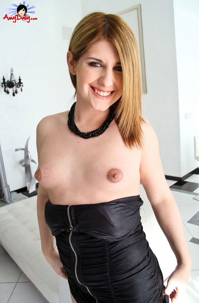 Amy Strips Out Of Her Black Panties And Plays!