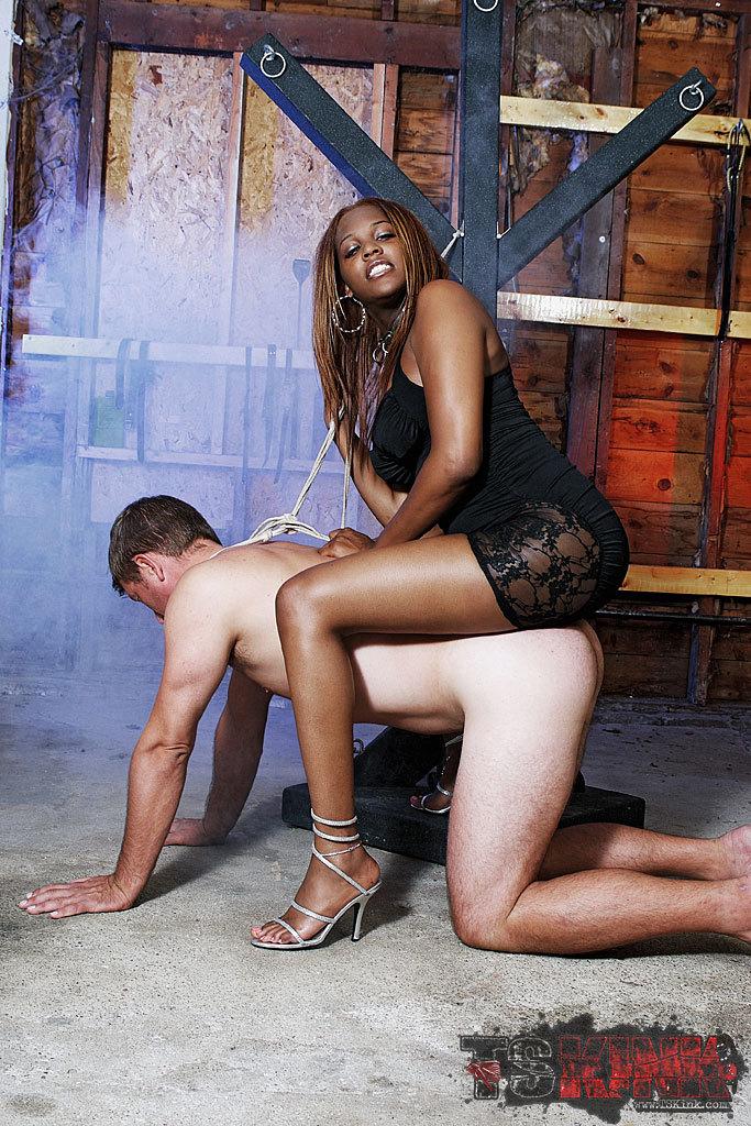 Badass Black TGirl Mistress Brownie In Action