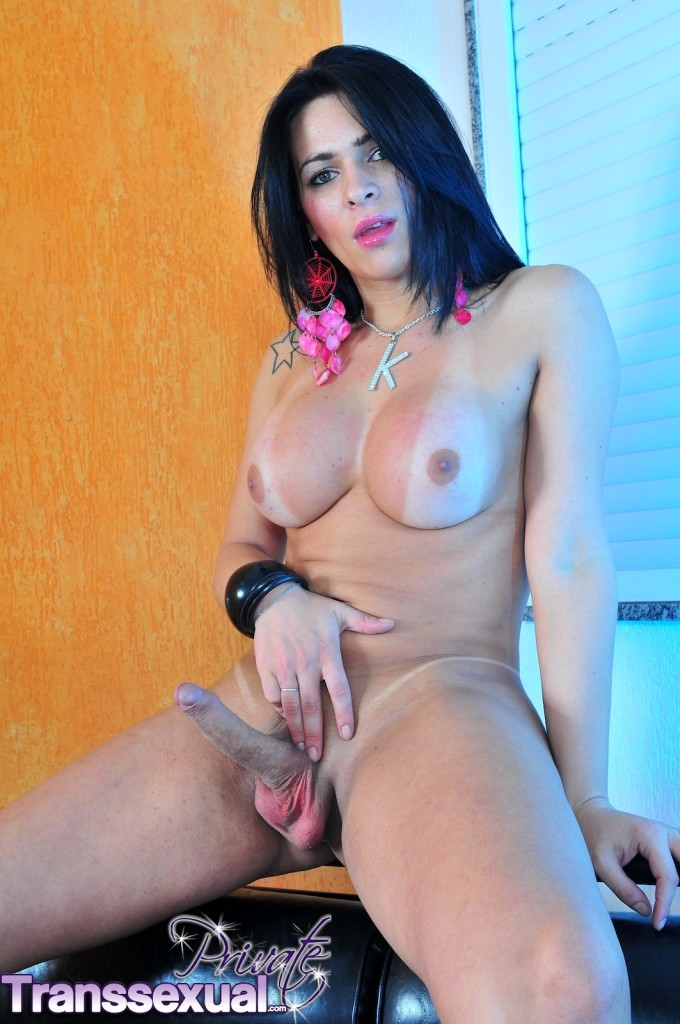 Busty TS Showing Her Enormously Enormous Tool