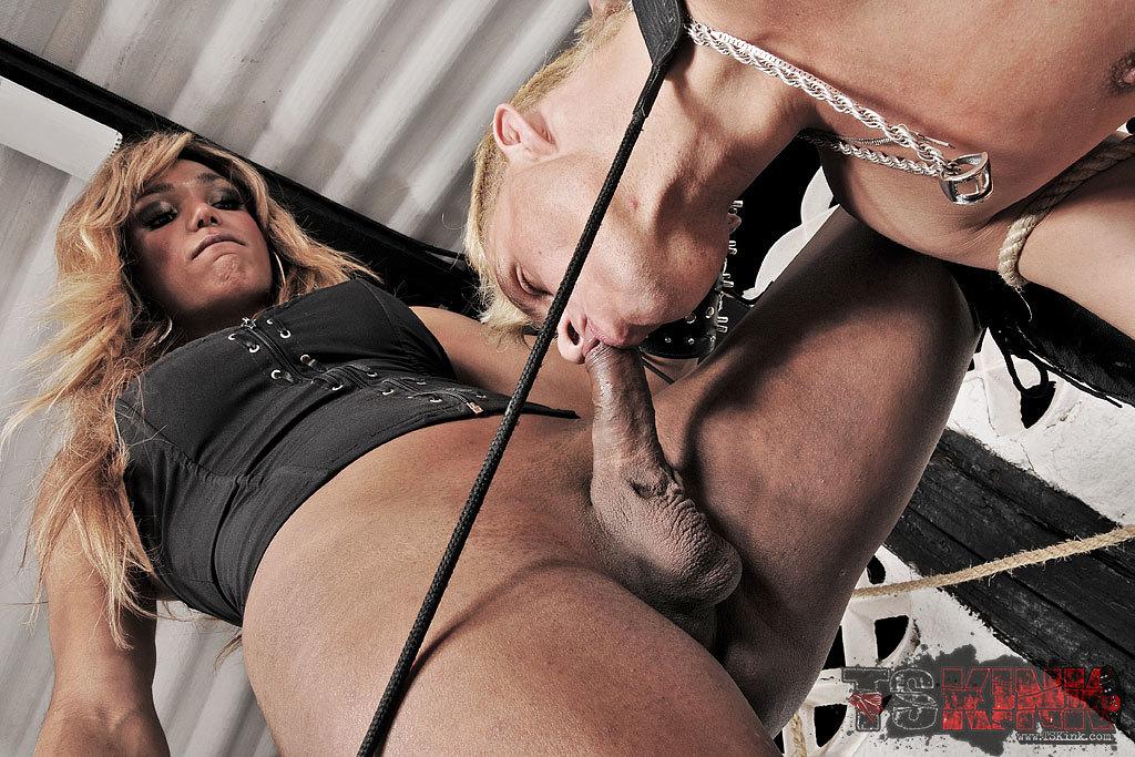 Dominant T-Girl Treats Her Slave Bad