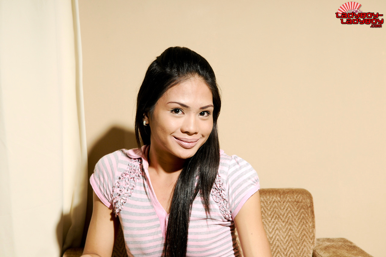 Karen Is A Perfect T-Girl From Manila. She Desires How Her Long Hair Drapes Over Her Erect Nipples, Emphasizing Her Engorged Penis Pointing Straight Up.