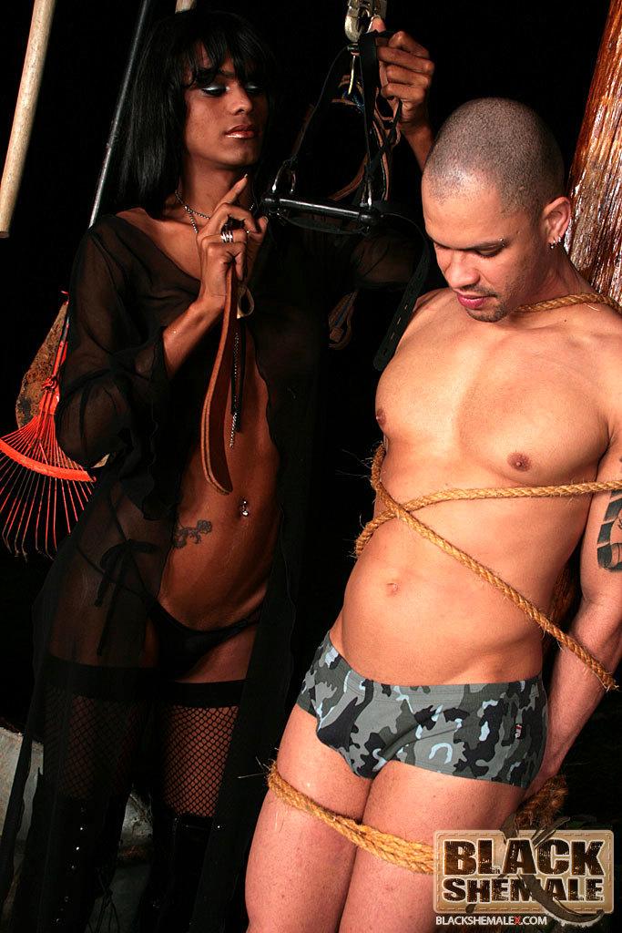 Kinky Black Tgirl Punishes Her Dude