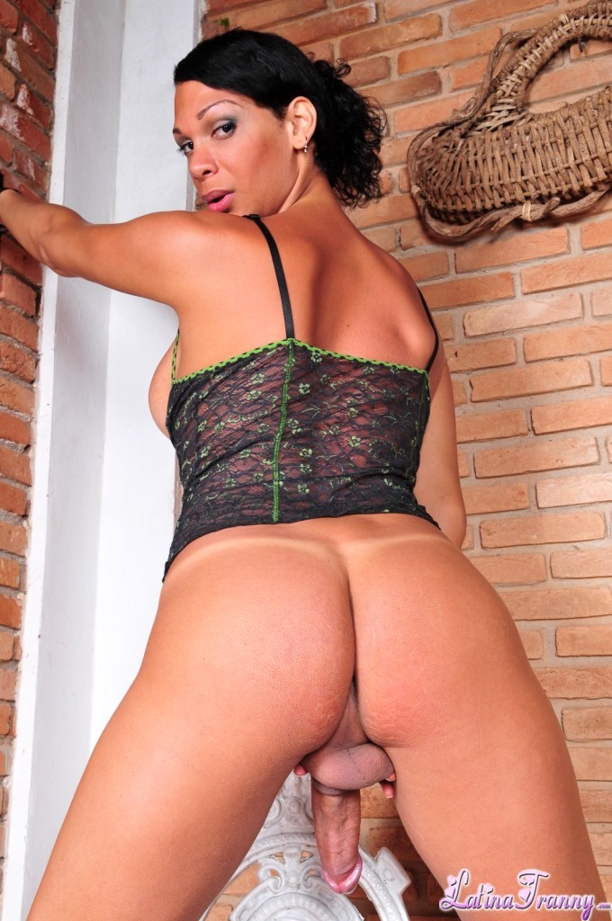Ladyboy Marcela Showing Her Massive Juicy Penis