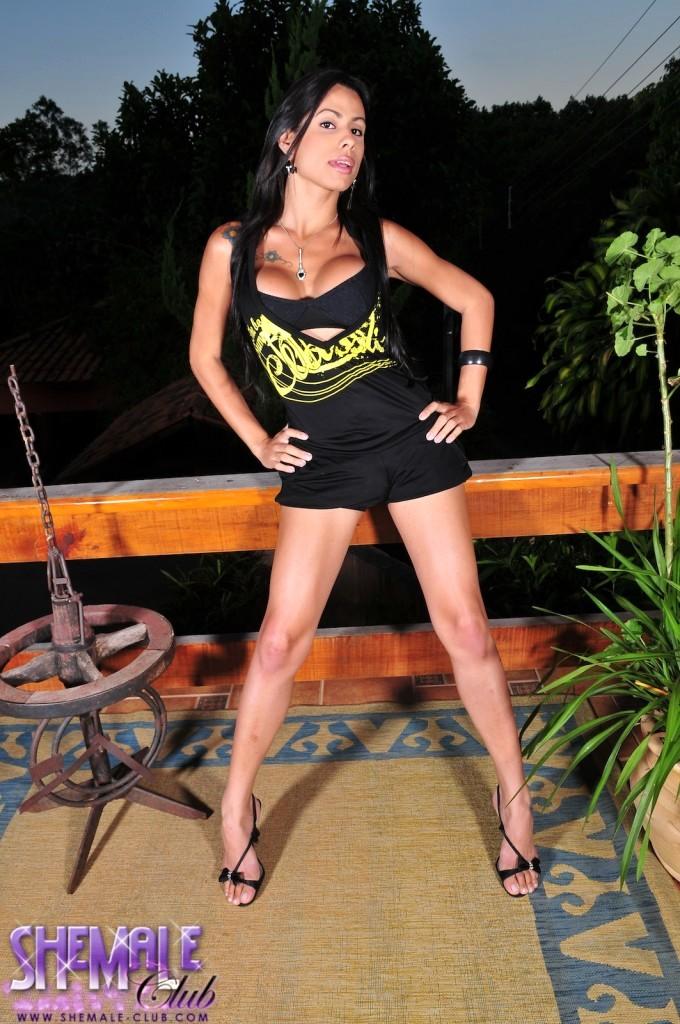 Marvelous Brunette TS Bruna Rodriques Stripping