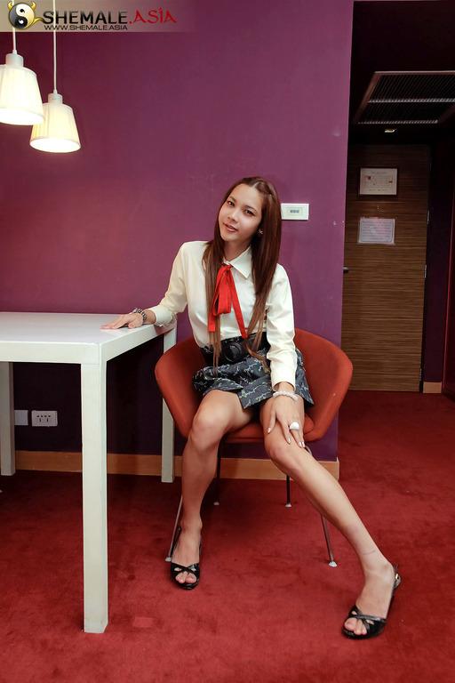 Watch Posh Asian Transexual Prae Wank Off